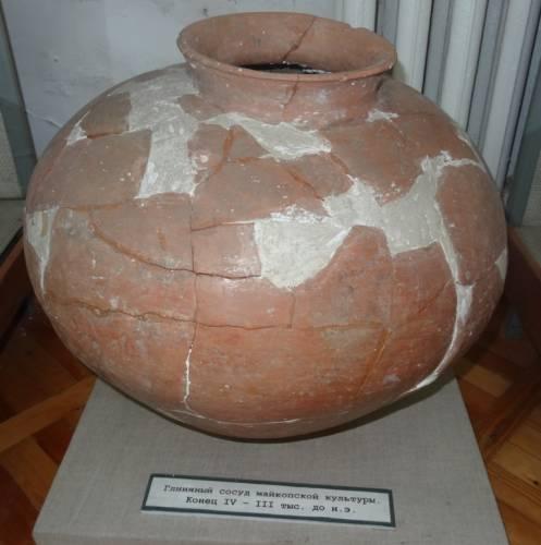 Глиняный сосуд майкопской культуры IV-III тыс. до н.э.